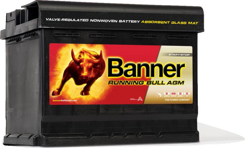 Banner Running Bull 58001 AGM 12V/80ah starterbatterie/ Caravan/ Boat/ NEW