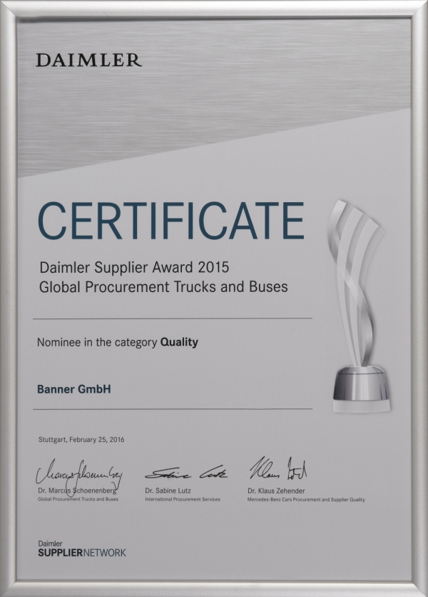 Daimler Supplier Award